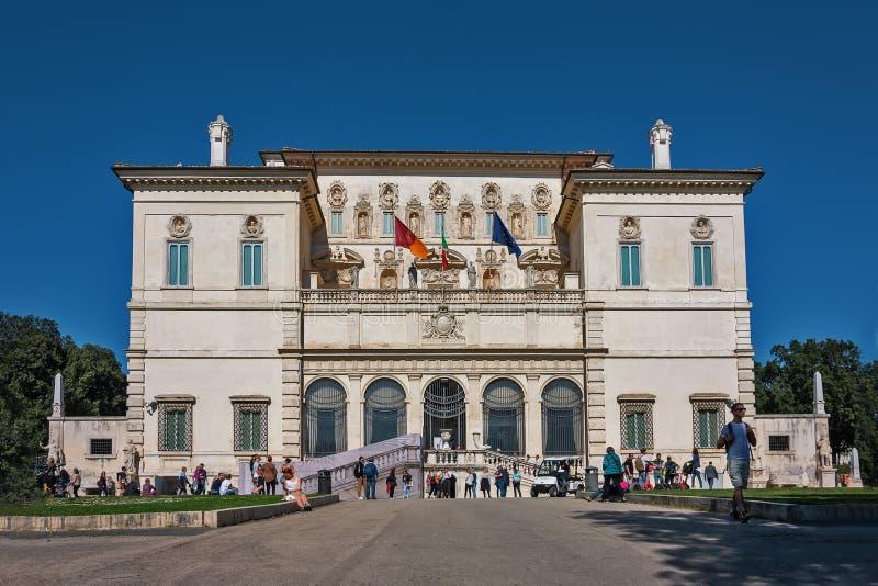 ROME Italien - marsch 22, 2019: VillaBorghese Galleria Borghese i Rome, Italien arkivfoto