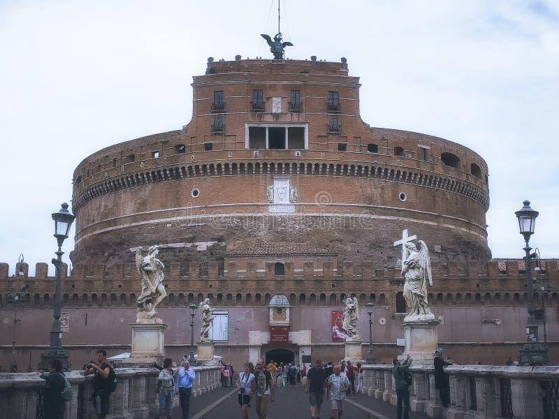 ROME ITALIEN SEPTEMBER 30, 2015: yttre sikt av castel sant 'angelo, rome royaltyfria foton