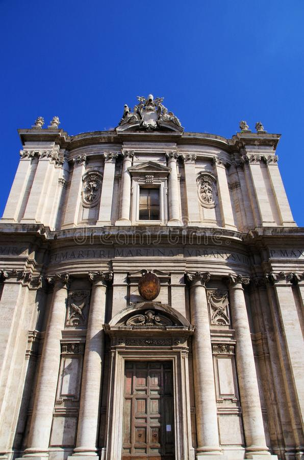 Download Santi Luca E Martina Church, Rome Stock Photo - Image of clocktower, craftsmanship: 28222362
