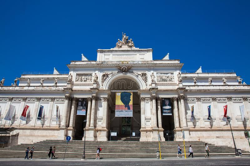 Palace of the Exhibitions a neoclassical exhibition hall, cultural center and museum on Via Nazionale stock photos