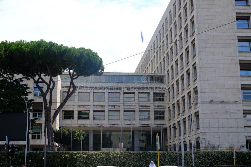 FAO building in Rome stock photos