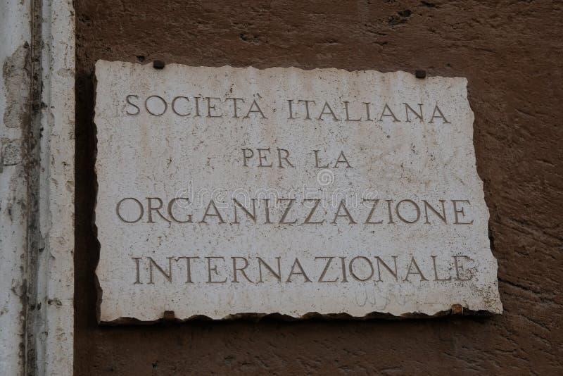 Italian Society for International Organization royalty free stock photos