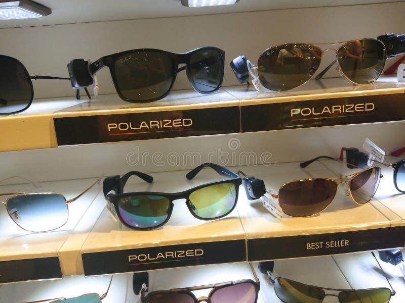Polarized sunglasses for sale royalty free stock photo
