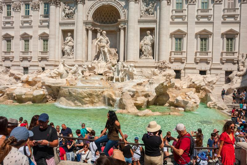 Fontana di trevi. ROME, ITALY, Trevi fountain Fontana di Trevi, Rome, Italy royalty free stock photo