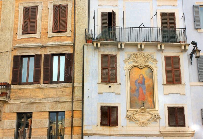 Rome, Italy - building facades stock photo