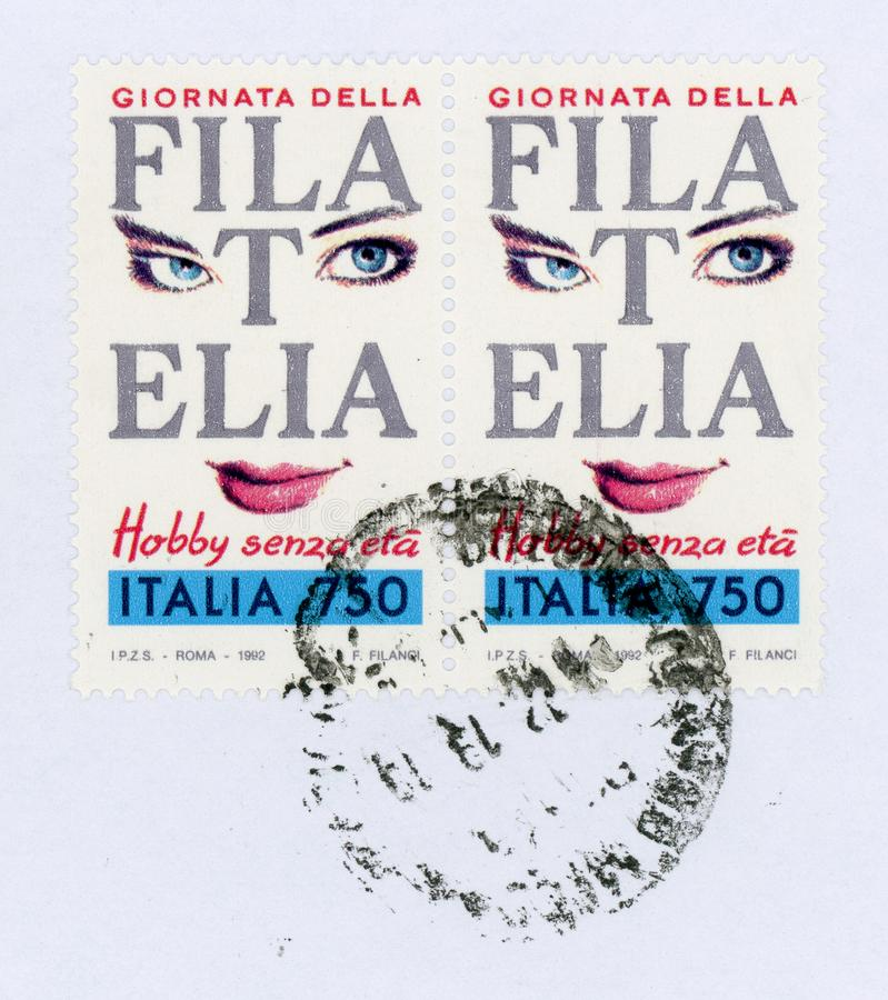 stamp of Italy stock images