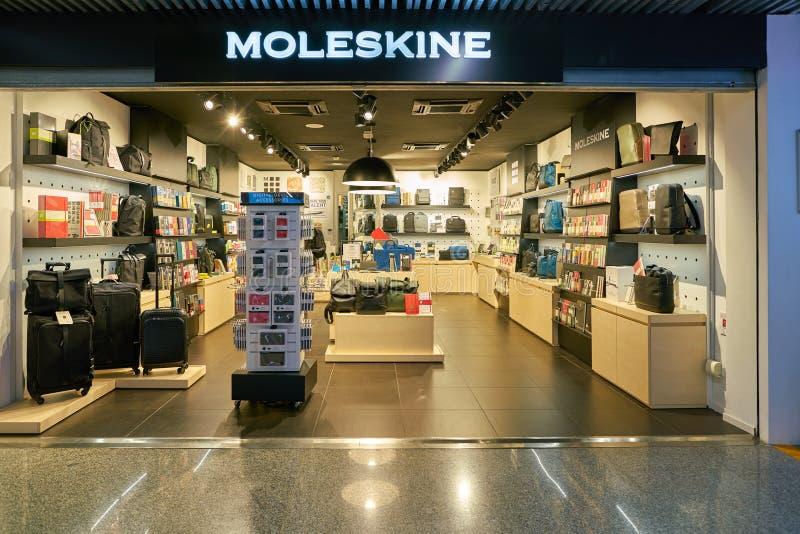 Moleskine stock image