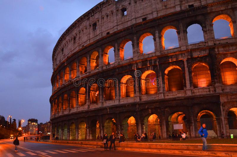 Colosseum in Rome, Italy. Rome architecture and landmark. Rome Colosseum is one of the main attractions stock photos