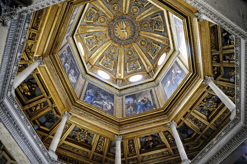 The baptistry of the St John Lateran Basilica in Rome Italy stock images