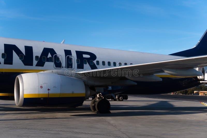 Ryanair flight stock photos