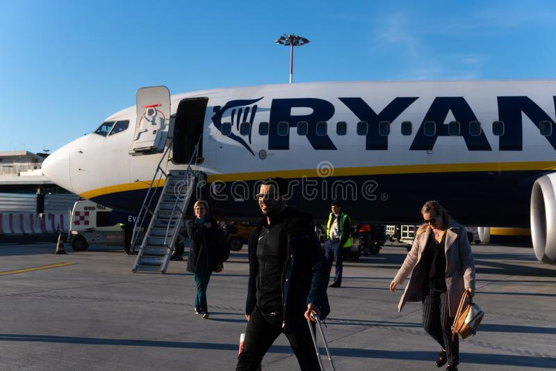 Ryanair flight royalty free stock photo