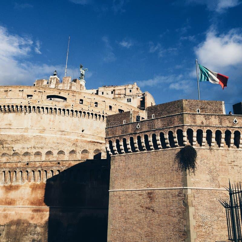 Rome, Italy, Flag stock photo