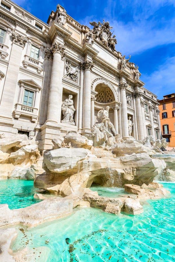 Rome, Italy - Fontana di Trevi. Rome, Italy. Famous Trevi Fountain (Italian: Fontana di Trevi) sculpture by Bernini stock photography
