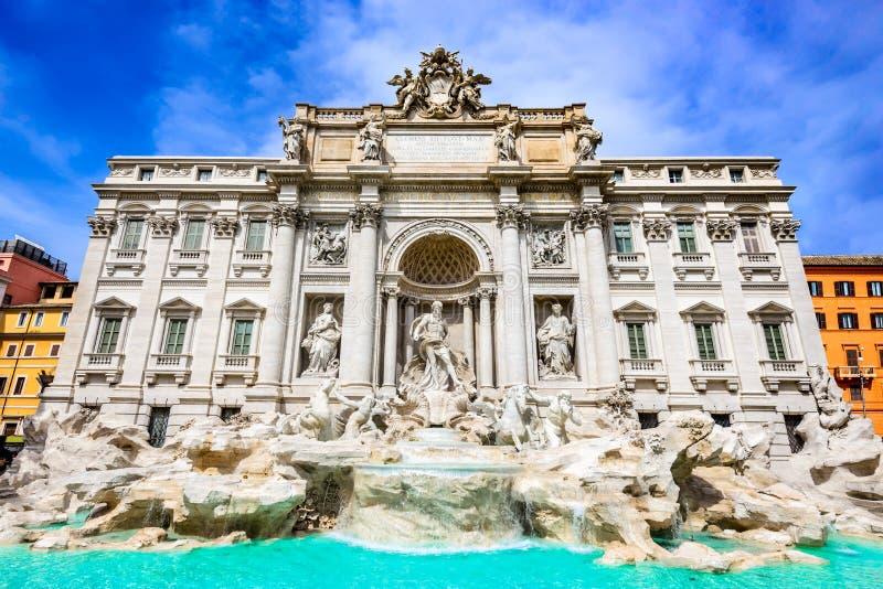 Rome, Italy - Fontana di Trevi. Rome, Italy. Famous Trevi Fountain (Italian: Fontana di Trevi) sculpture by Bernini royalty free stock image