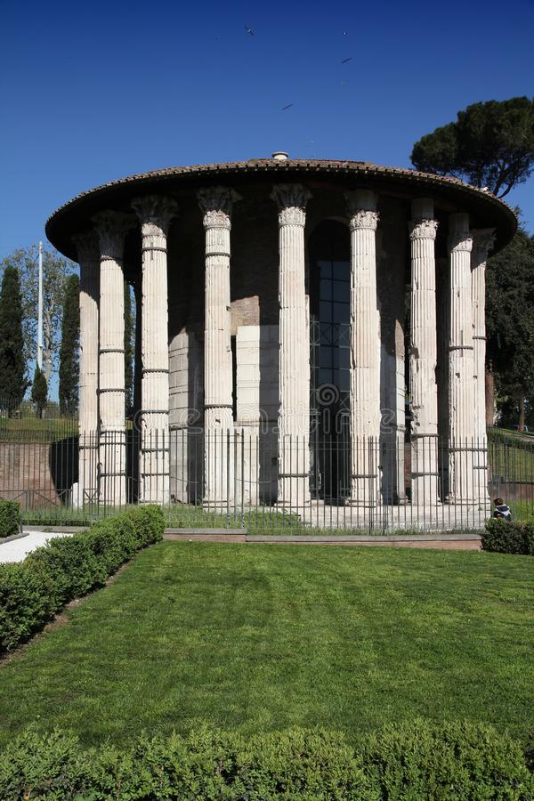 Temple of Hercules Victor stock image
