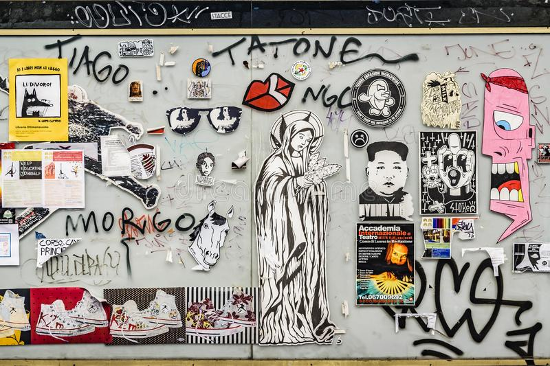 Urban Art Collage, Rome, Italy royalty free stock images