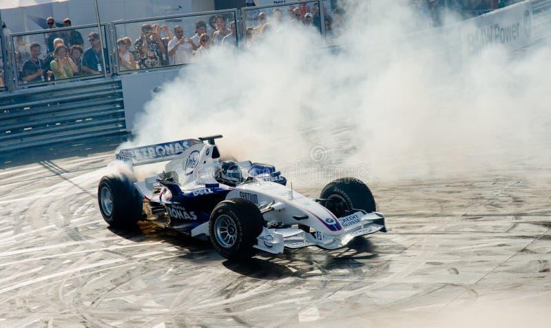 ROME, ITALY - JUNE 23 2007. Formula 1 Sauber Bmw with Sebastian royalty free stock photos