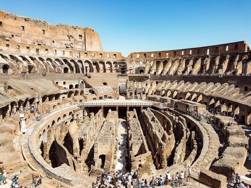 The Colosseum in Rome stock images