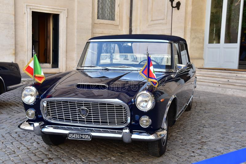Rome - Italy - June 2, 2018 - Lancia Flaminia 335. A car being used by the President of Italy at some national celebrations stock photos