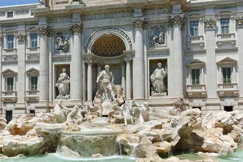 ROME, ITALY - JUNE 23, 2017: View of Trevi Fountain Fontana di Trevi in city of Rome. Italy stock photos