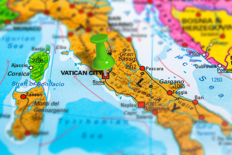 Rome Italy map stock photos