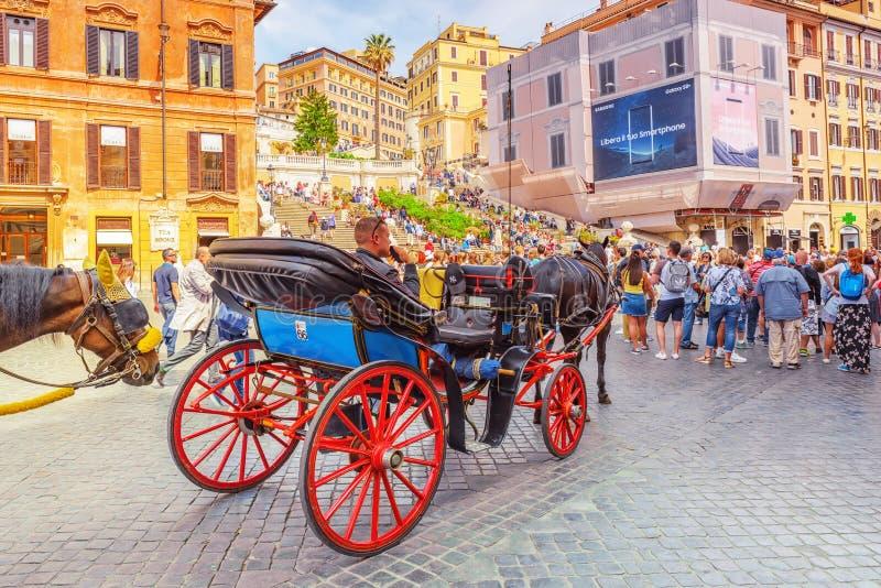 ROME, ITALY - MAY 10, 2017 : Spanish Steps SquarePiazza della royalty free stock photography
