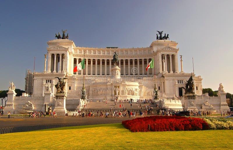 Rome Italy monument Monumento a Vittorio Emanuele II royalty free stock photos