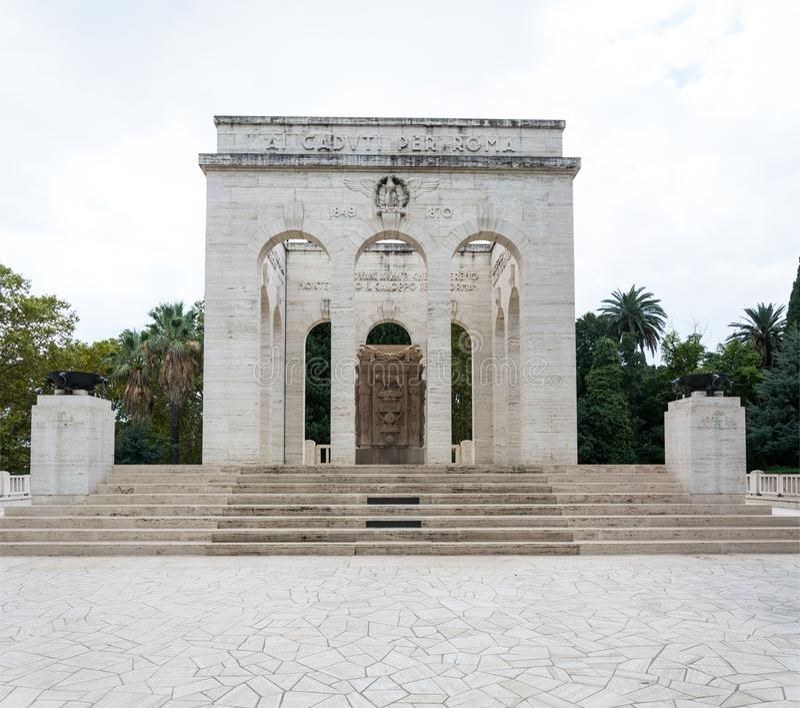 Mausoleo Ossario Garibaldino stock photos