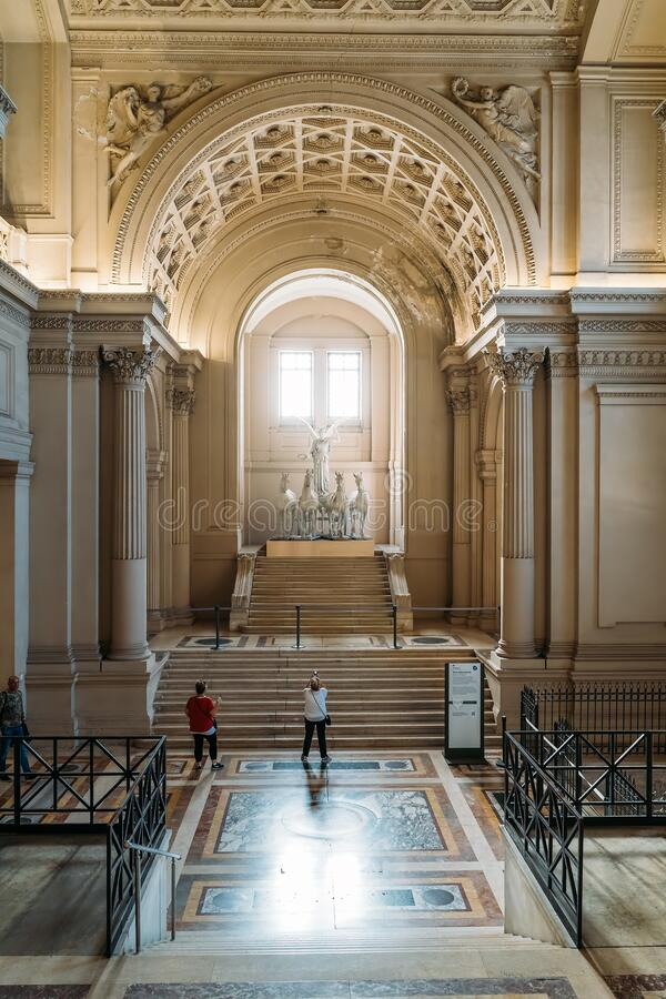 Rome, Italy - October, 2019: Inside interior of Monument of Victor Emmanuel II, famous big white building in Rome. stock photos