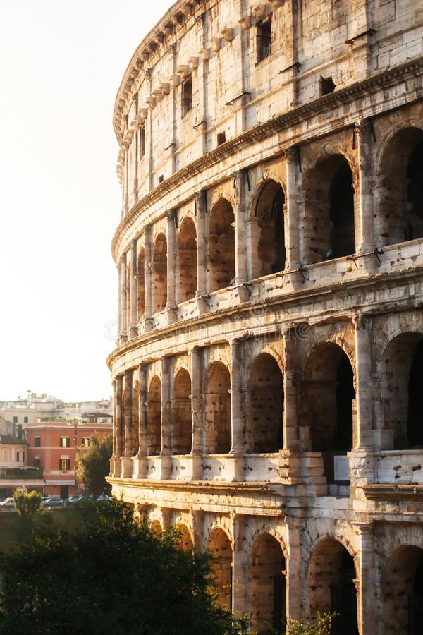Rome, Italy. One of the most popular place in world - Roman Coliseum.  stock images