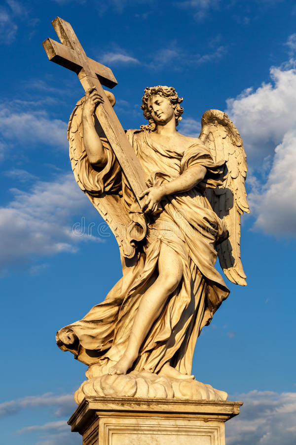 Rome, Italy - Statue of an angel royalty free stock photos