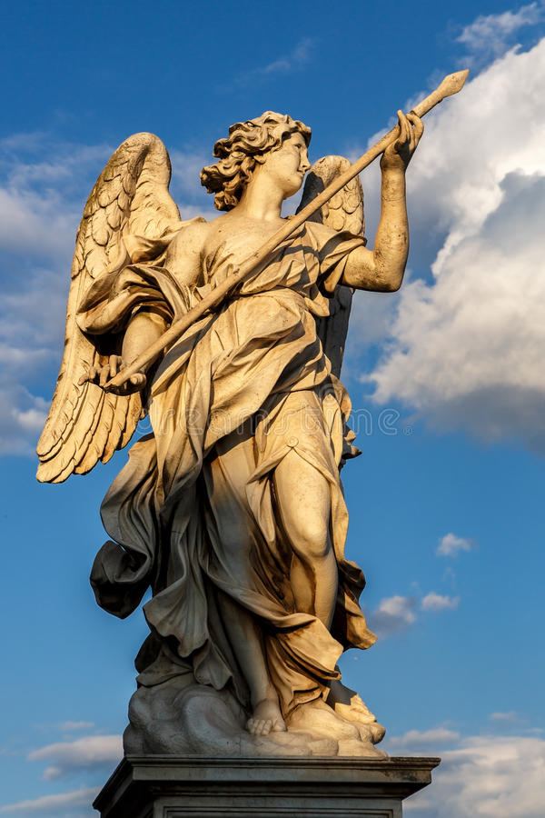 Rome, Italy - Statue of an angel stock images