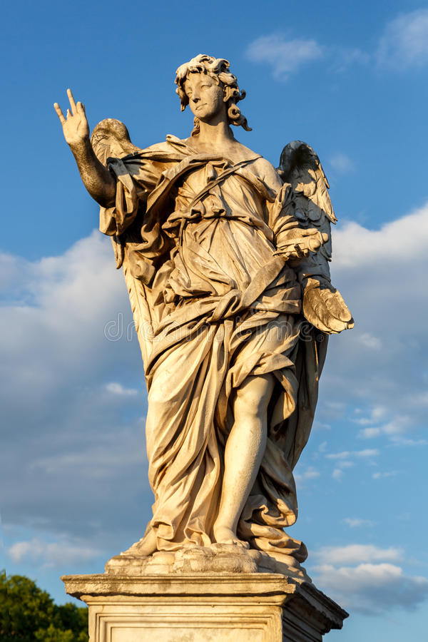 Rome, Italy - Statue of an angel royalty free stock photo