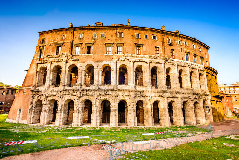 Rome, Italy - Theatre of Marcellus stock photos