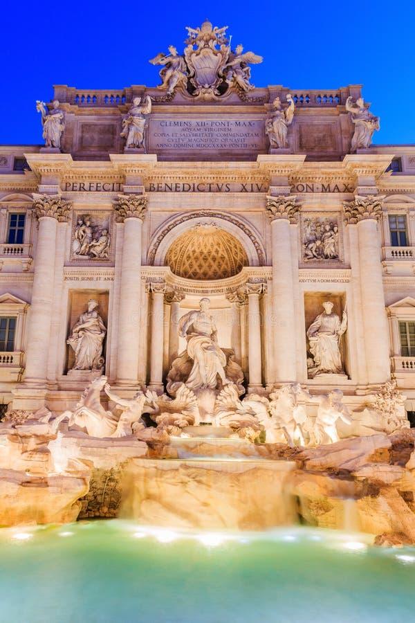 Rome, Italy. Trevi Fountain Fontana di Trevi. Rome, Italy. Trevi Fountain Fontana di Trevi at twilight royalty free stock photo