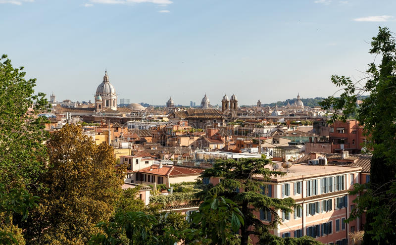 Rome, Italy - View on the city royalty free stock photo
