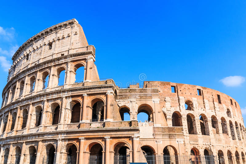 Rome, Italy. View of Colosseum on a sunny day stock image