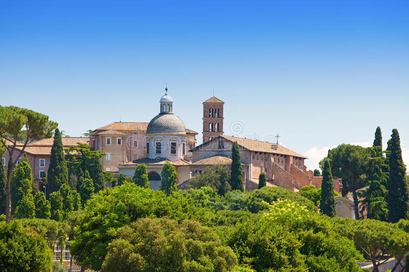Rome. Italy. View from the Palatine hill. stock photo