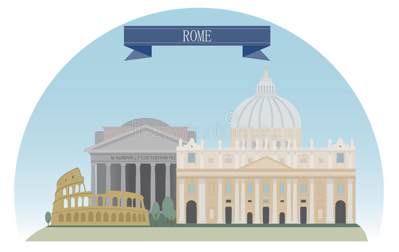 Rome royalty free illustration