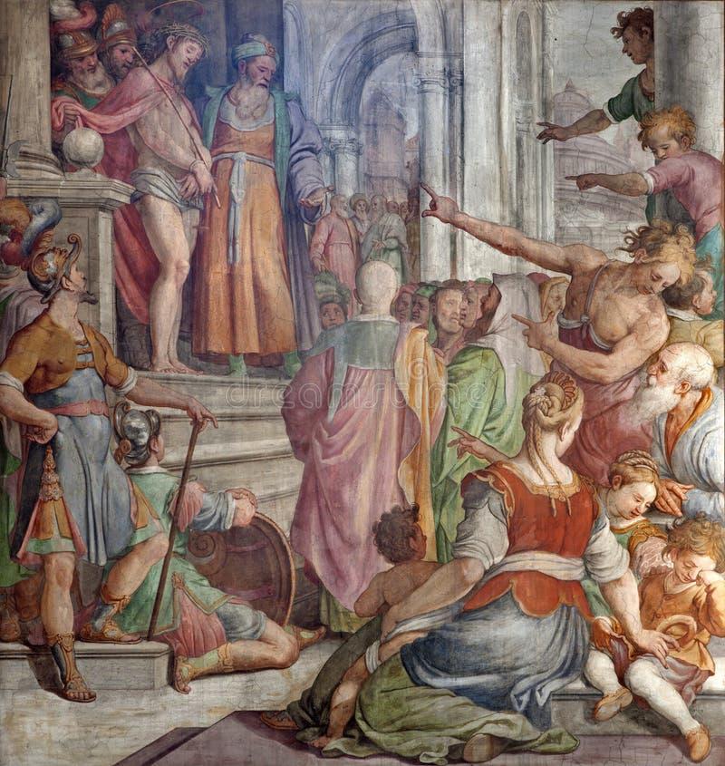 Rome - Jesus-Christus voor Pilatus stock afbeeldingen