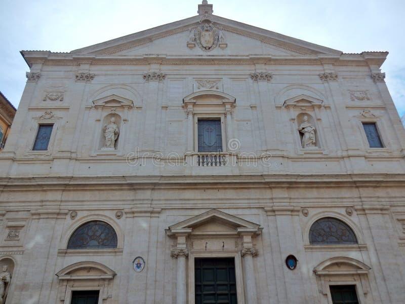 Rome - kyrka av den San Luigi deien Francesi royaltyfri bild