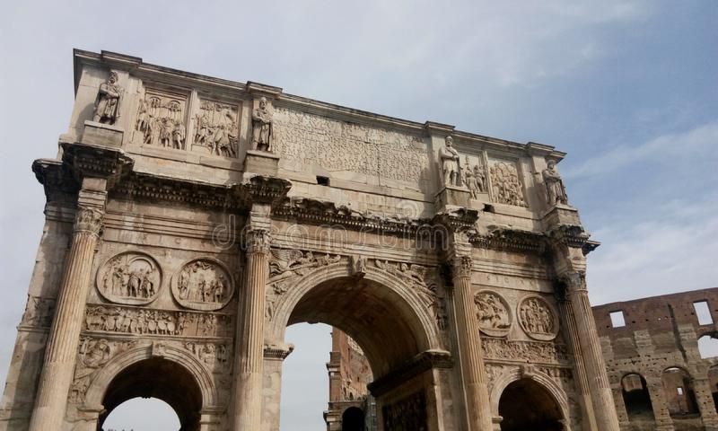 Rome - l'Italie /October 2015 6ème : La voûte de Constantine image libre de droits