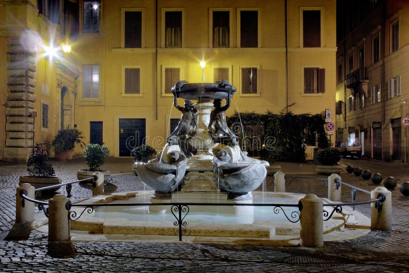 Rome, la fontaine de Tortuga image libre de droits