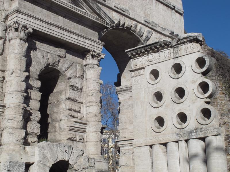 Rome la porte de Maior image stock