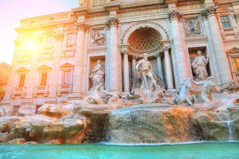 Rome, Famous Trevi Fountain Fontana Di Trevi. Rome, Landmark Trevi Fountain Fontana Di Trevi in historic part of Rome royalty free stock image