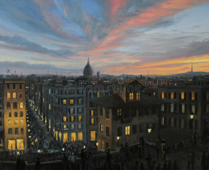 Download Rome In The Light Of Sunset Stock Illustration - Image: 25446992