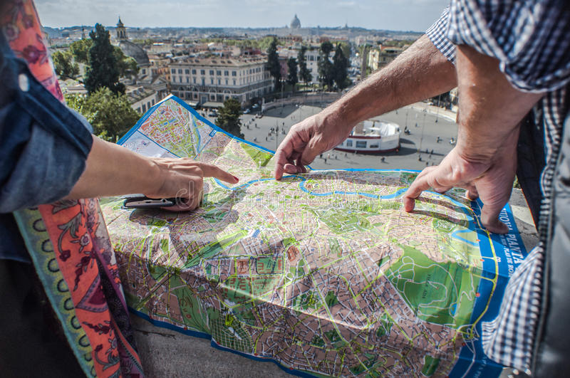 Rome map stock photography