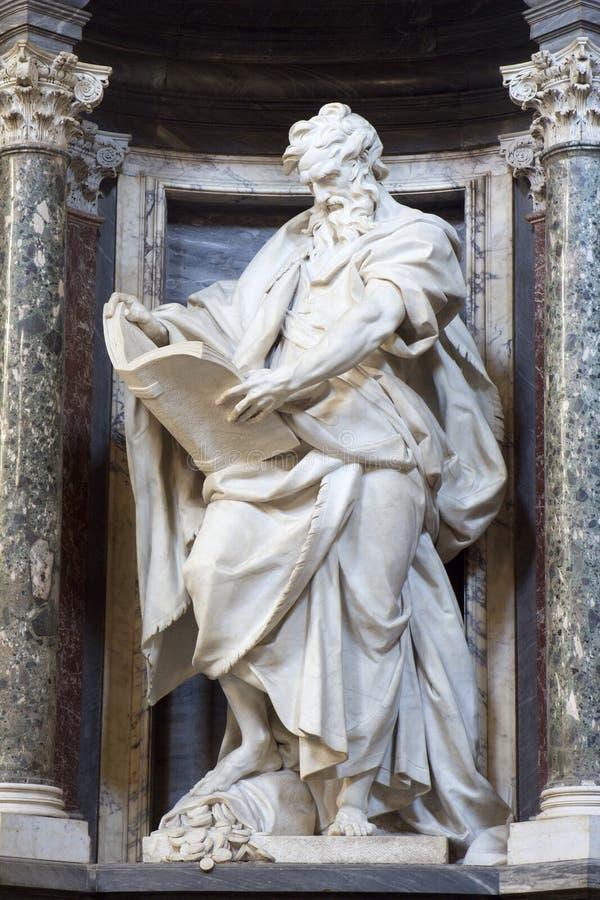Rome - Matthew from Lateran basilica stock image