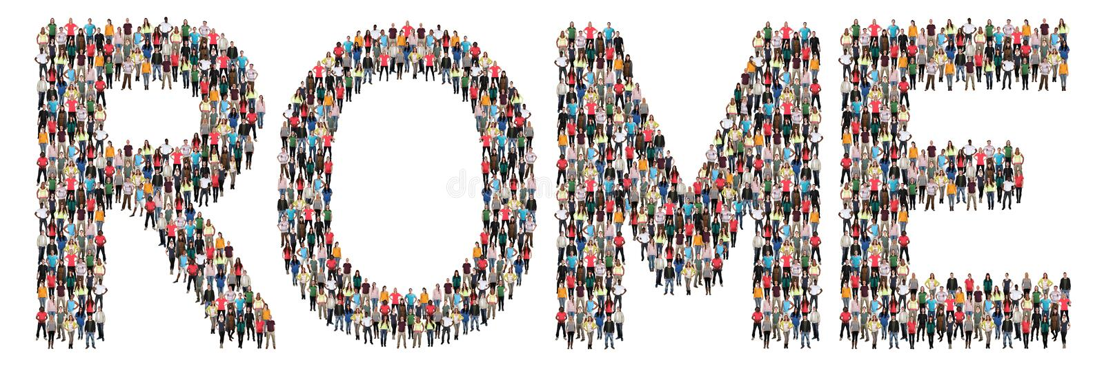Rome multi ethnic group of people stock photography