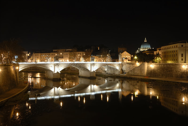 Download Rome by night stock image. Image of tiber, faith, immortal - 1851613